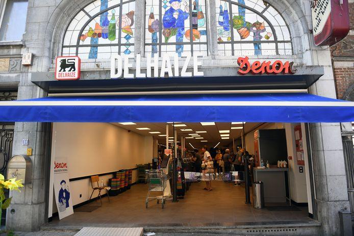 Vernieuwde Delhaize Denon in de Brusselsestraat in Leuven is geopend.