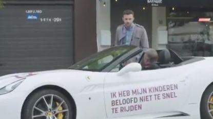 Veiliger verkeer begint bij jezelf, bewijst ook deze opvallende Ferrari