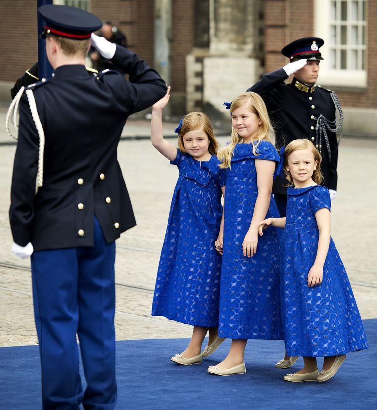 Bij de inhuldiging van koning Willem Alexander, april 2013. Beeld anp