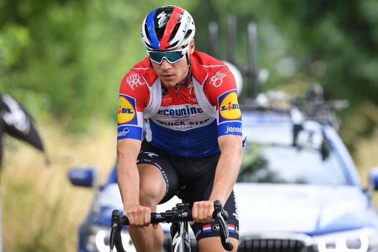 Fabio Jakobsen tijdens een training afgelopen zomer in de Ardennen.  Beeld BELGA
