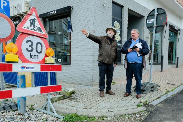 Guido Jannes met burgemeester Chris Selleslagh.
