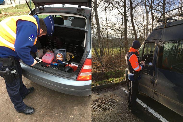 De politie controleerde op drie verschillende locaties in Putte, Bonheiden en Duffel