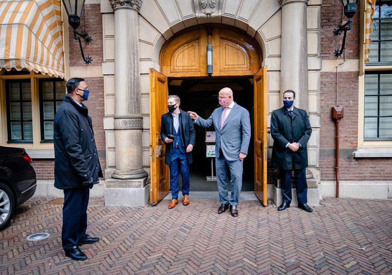 Demissionair Minister Ferdinand Grapperhaus van Justitie en Veiligheid (CDA) na de wekelijkse ministerraad.  Beeld ANP