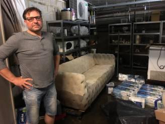 """Werken aan Grote Markt zorgt voor tientallen ondergelopen kelders en garages : """"Nooit eerder druppel water binnen gekregen, nu al tweede maal op een week. We houden ons hart vast voor vannacht"""""""