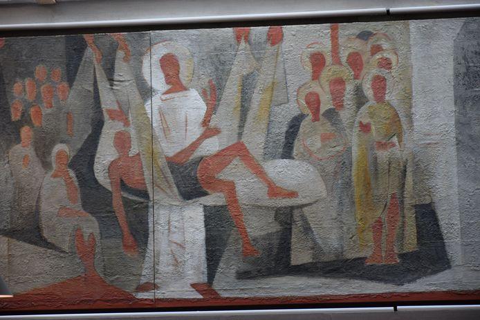 Een van de panelen van het werk van Théodore Stravinsky.