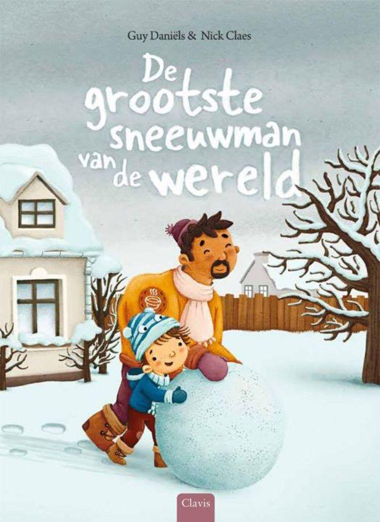 De grootste sneeuwman van de wereld, een kinderboek van Guy Daniëls en Nick Claes, speelt ook met het beeld van een sneeuwman die bestaat uit verschillende bollen. Beeld Nick Claes en Guy Daniëls