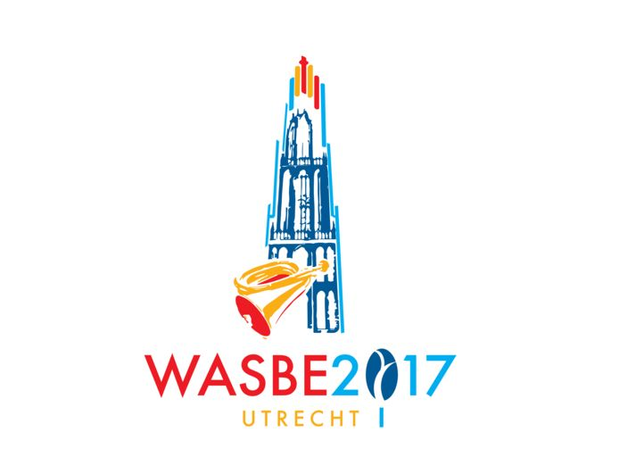 Het logo van het internationale symfonische blaasmuziekfestival in Utrecht. ILL WASBE