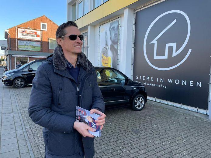 Joost Eerdmans (JA21) op campagne in Glanerbrug.