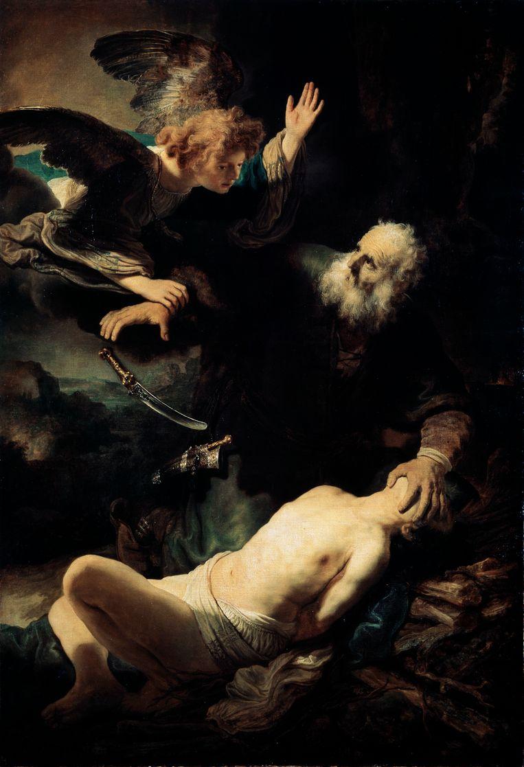 Rembrandt van Rijn, Het offer van Abraham (1635).   Beeld Heritage Images/Getty Images