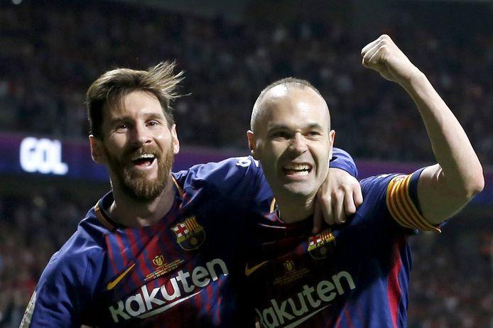 Lionel Messi en Andrés Iniesta.