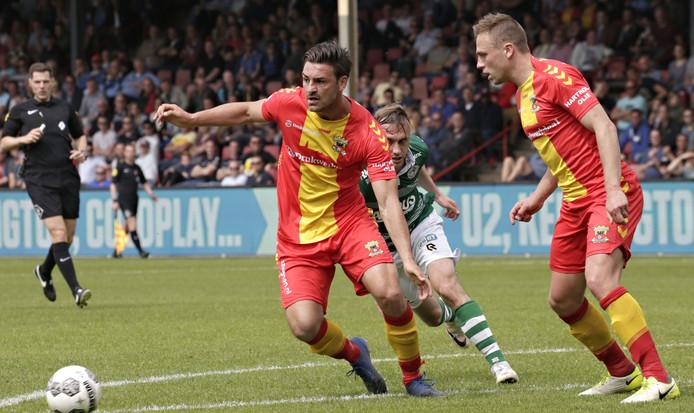Sander Fischer, links, vorig seizoen tegen Sparta.