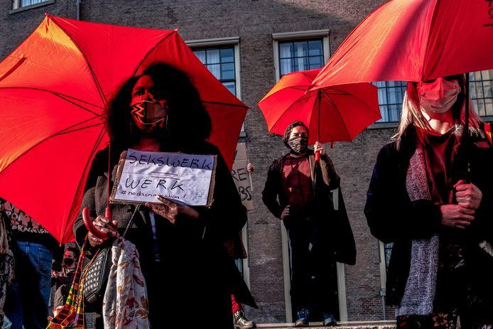 'Sekswerk is werk', was de duidelijke boodschap tijdens het protest van de sekswerkers in Den Haag afgelopen maart.