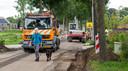 Er wordt volop gewerkt aan de herinrichting van de Garderenseweg in Speuld.