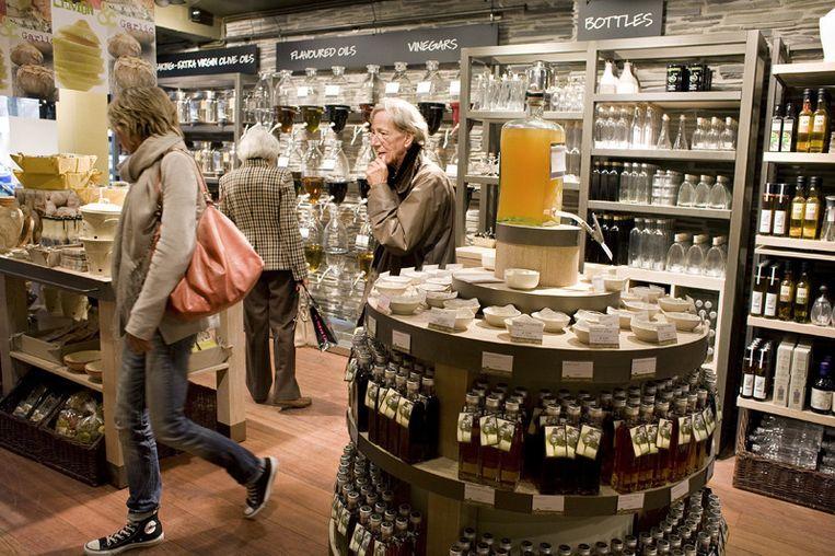 De nieuwe winkel van Oil & Vinegar in de Beethovenstraat in Amsterdam.© Marjolijne Perquin Beeld