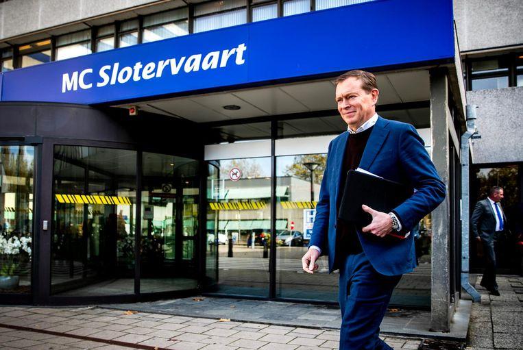 De minister op bezoek bij MC Slotervaart Beeld ANP