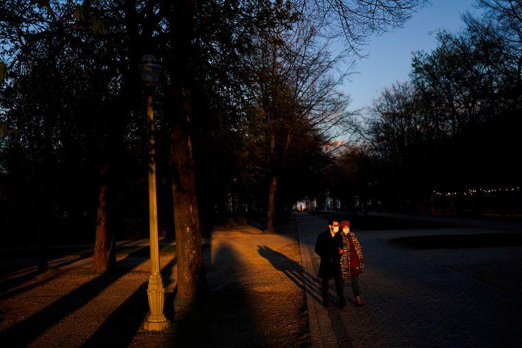 Een stadspark in Brussel.   Beeld AP