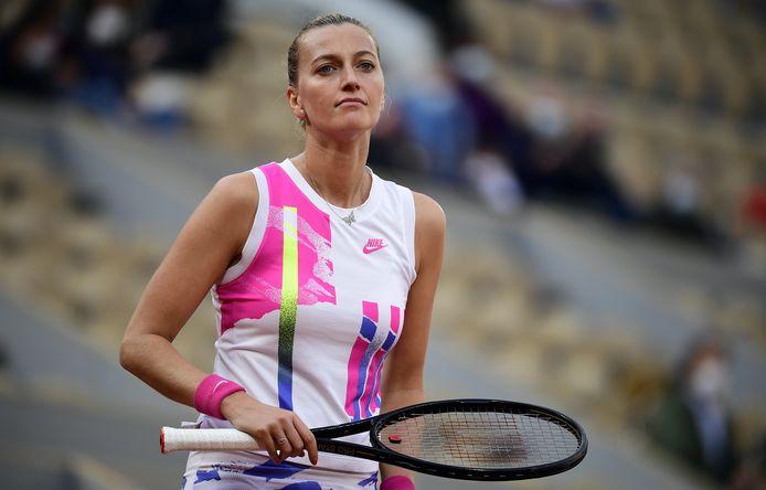 Dominée, Petra Kvitova n'a rien pu faire contre Sofia Kenin, en demi-finale.