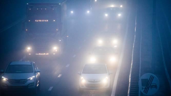 Code geel vanwege dichte mist in Oost-Nederland