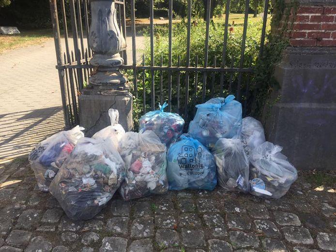 De nombreux sacs de déchets ont été récoltés aux Bons Villers