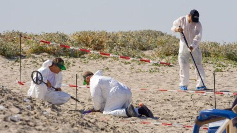 Het onderzoek naar het schietincident op het strand van Hoek van Holland. Foto ANP Beeld