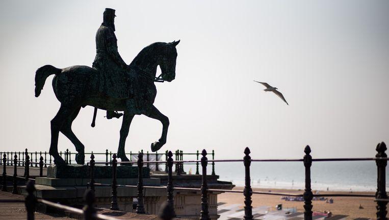 Standbeeld van Leopold II in Oostende. Beeld Bob van Mol
