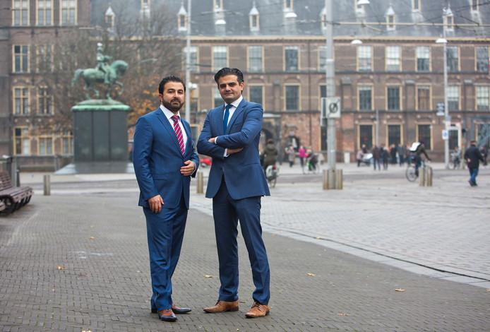 De afgescheiden PvdA-Kamerleden Tunahan Kuzu en Selcuk Öztürk.