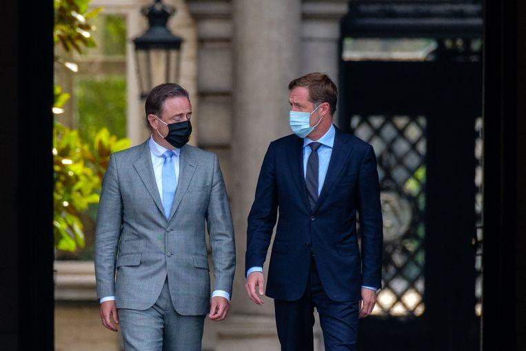 Bart De Wever en Paul Magnette.  Beeld BELGA