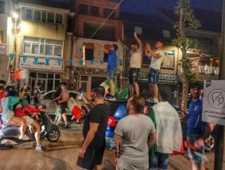IN BEELD. Italiaanse feestvreugde in straten van Maasmechelen