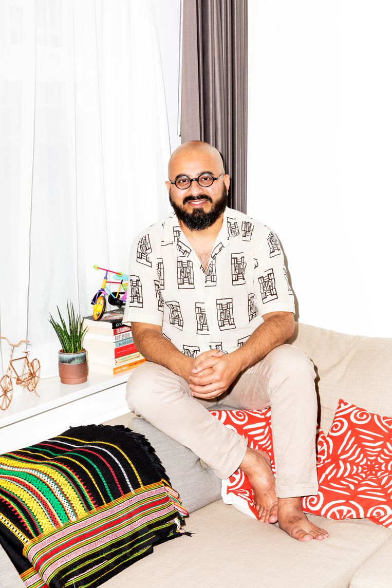 Altaf Makhiawala, also known as the @CylingSultan, works for a private foundation Beeld Marie Wanders