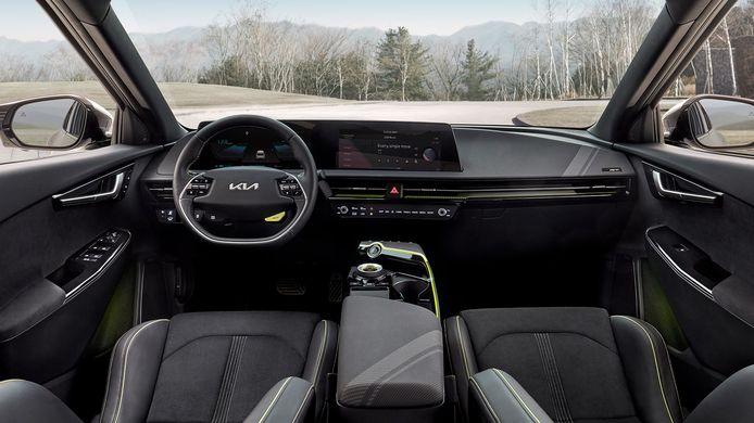 Het interieur van de Kia EV6 GT