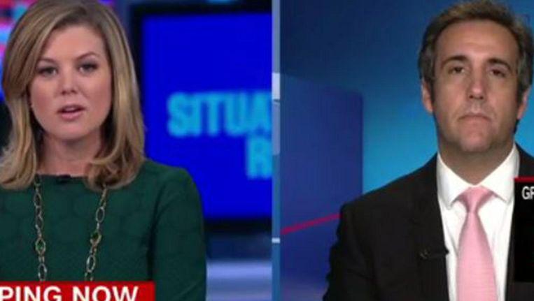 CNN-presentator Brianna Keiler haar vraag aan Trump-adviseur Michael Cohen. Beeld CNN
