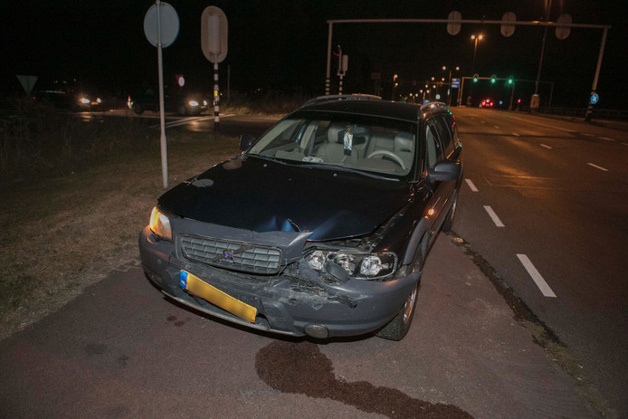 Een van beide beschadigde auto's.