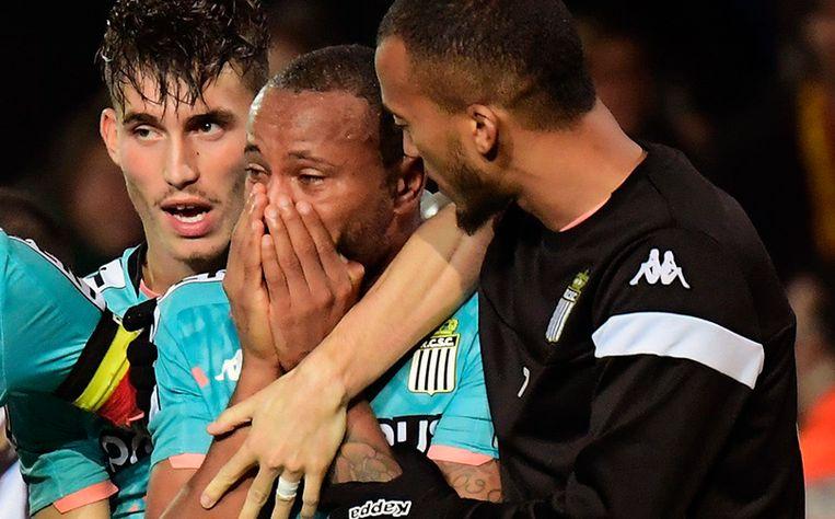 Charleroispeler Marco Ilaimaharitra verliet tijdens de bewuste match aangeslagen het veld na racistische opmerkingen van een Malinwa-supporter uit Puurs.