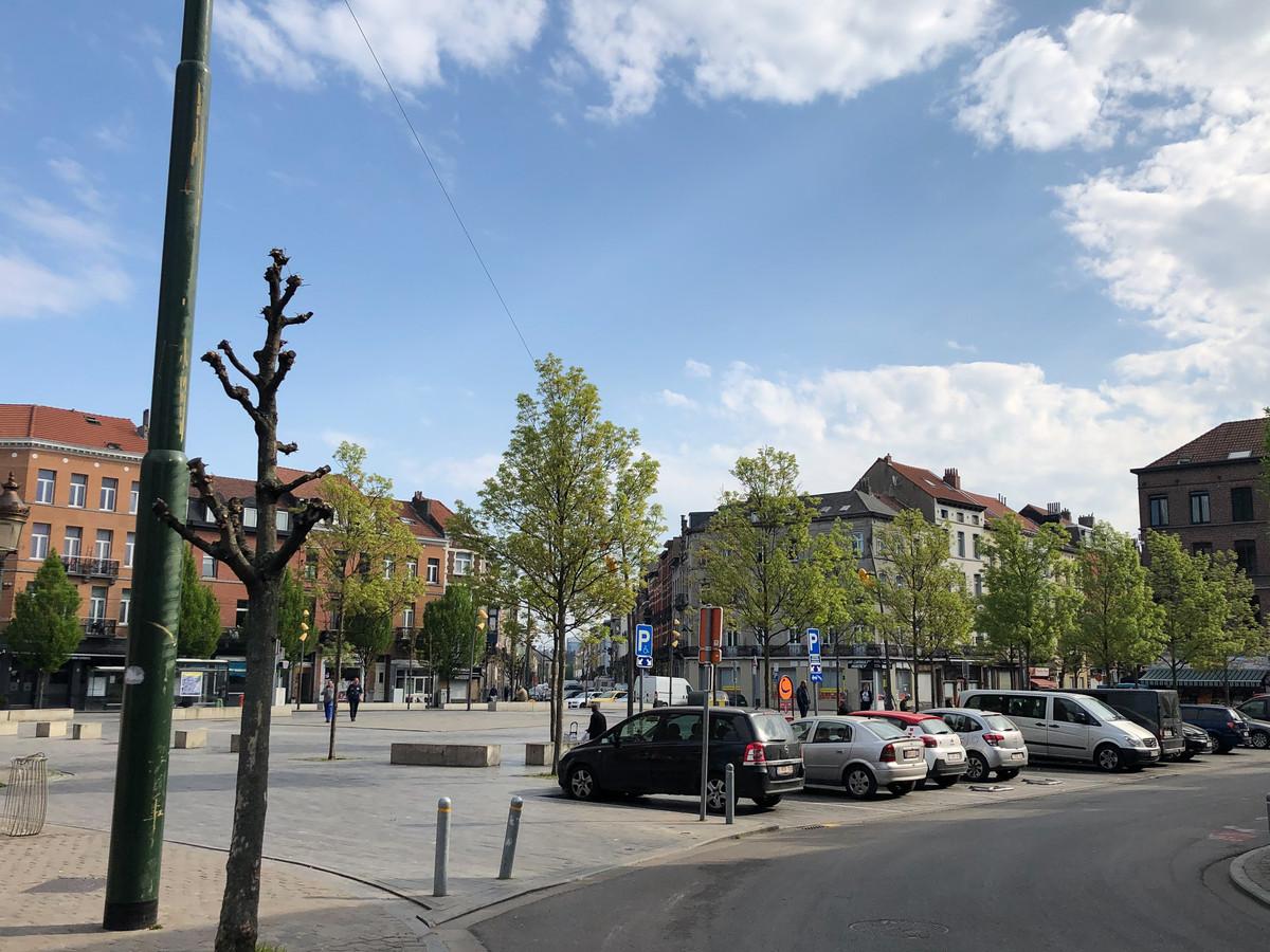 Raadsplein in Anderlecht.