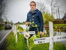 Bram houdt kruistocht voor de dode dieren: 642 verkeersslachtoffers herdacht langs de Ziendeweg