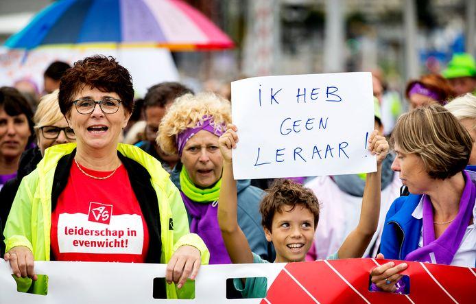Eerder dit jaar tijdens een staking in Rotterdam.