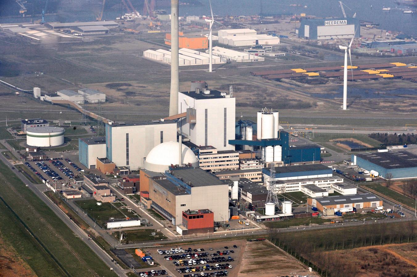 Luchtopname van de kerncentrale van Borssele.