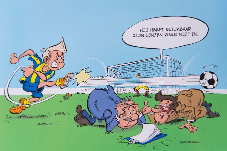 Een beeldje uit de strip.