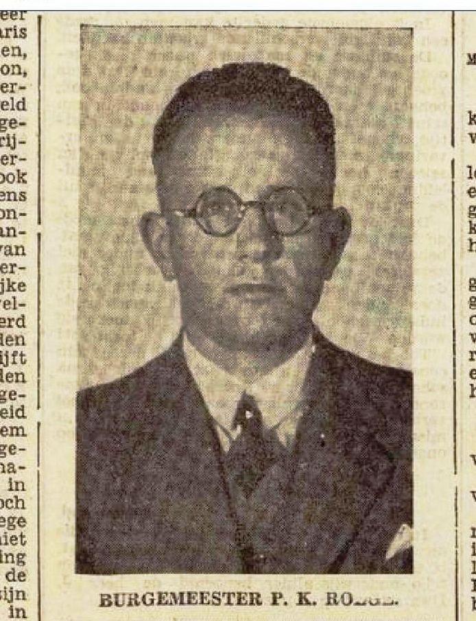 Pieter Klaas Roege bij zijn benoeming in 1940.