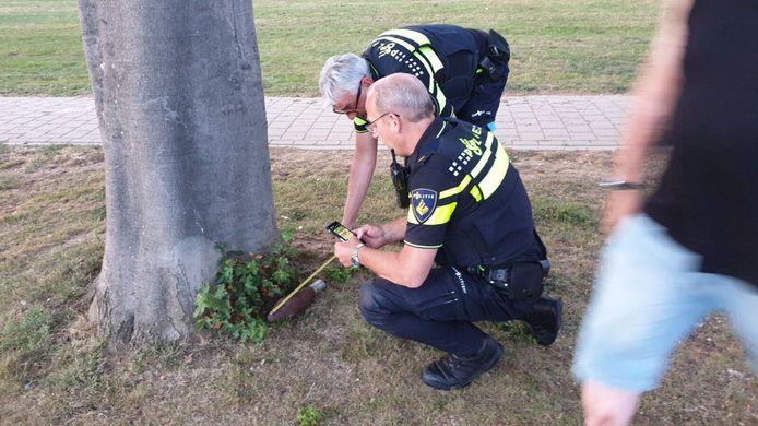 Terborg - Spwlwnse kinderen hebben vanavond een granaat gevonden bij een speelplaats aan de IJsselstraat.