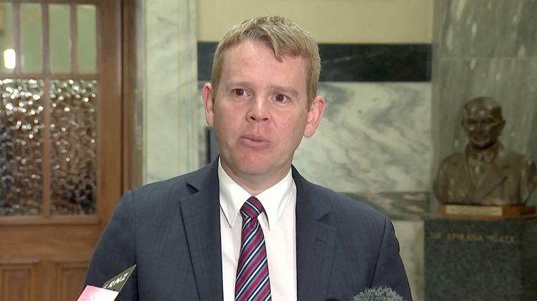 Minister Chris Hipkins, verantwoordelijk voor de Covid-communicatie. Beeld via REUTERS