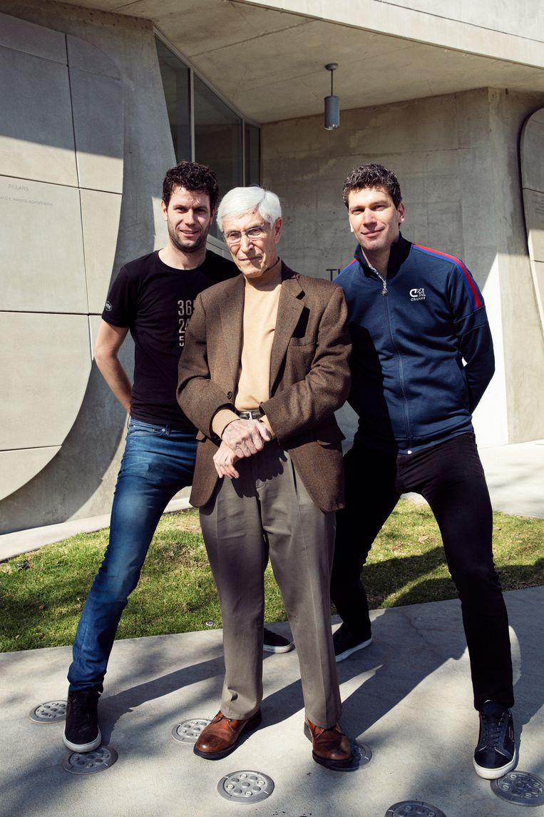 Myself, Harry Davids, and my brother Ruben Sijtsma in Los Angeles. Beeld Linda Stulic