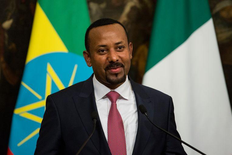 Ook binnen de landsgrenzen zijn er twijfels over de vredelievendheid van de Ethiopische premier Abiy Ahmed.  Beeld NurPhoto via Getty Images