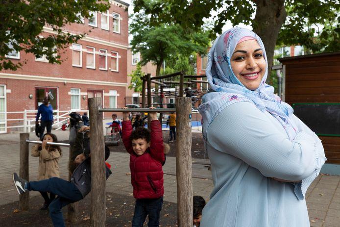 Portret van zij-instromer Wafiqah Hussain op Islamitische basisschool Yunus Emre.