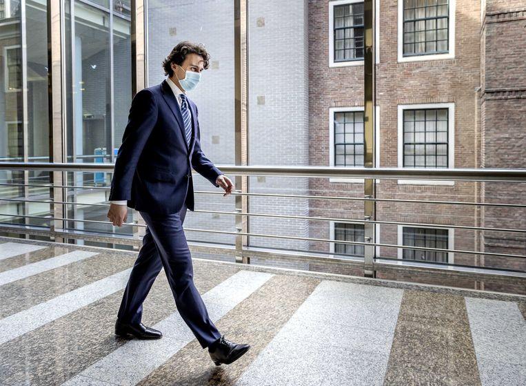 GroenLinks-leider Jesse Klaver in Den Haag. Het aantal zetels van zijn partij is bijna gehalveerd. Beeld ANP
