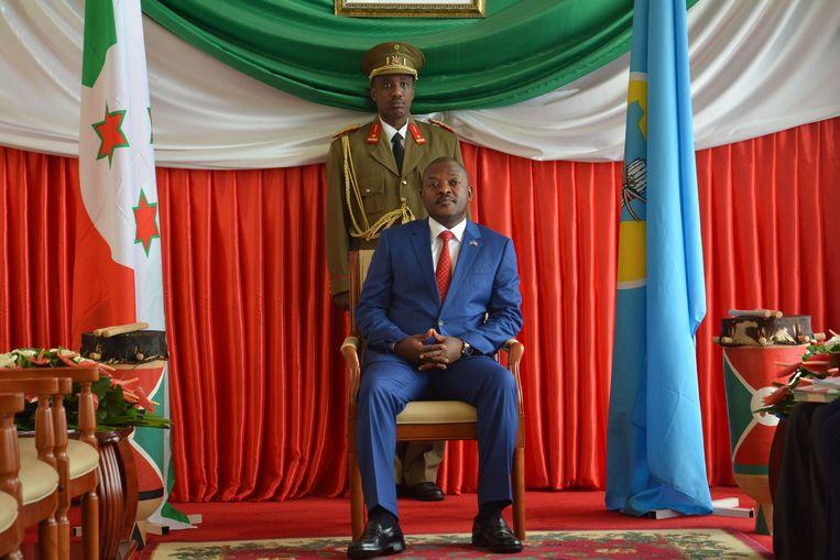 President Pierre Nkurunziza van Burundi in de hoofdstad Bujumbura. Hij regeert sinds 2005. Beeld AFP