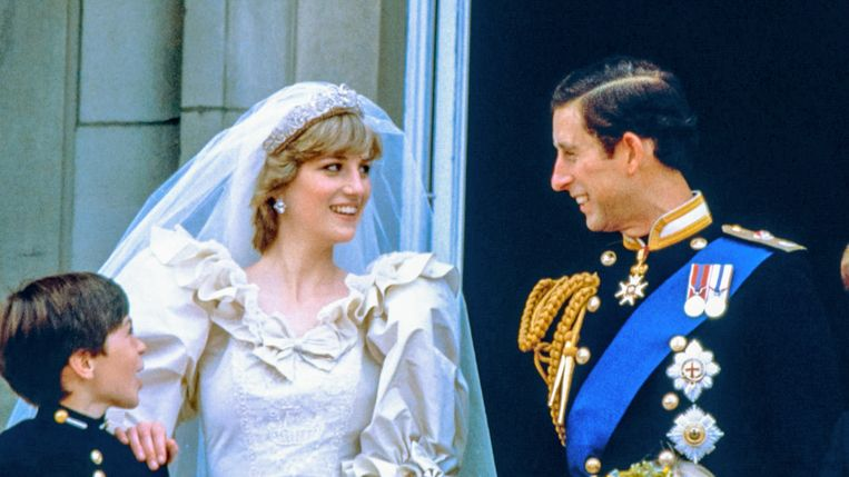 Prinses Diana en prins Charles in 'Telefacts zomer: Charles en Di - The truth behind their wedding' Beeld Telefacts Zomer