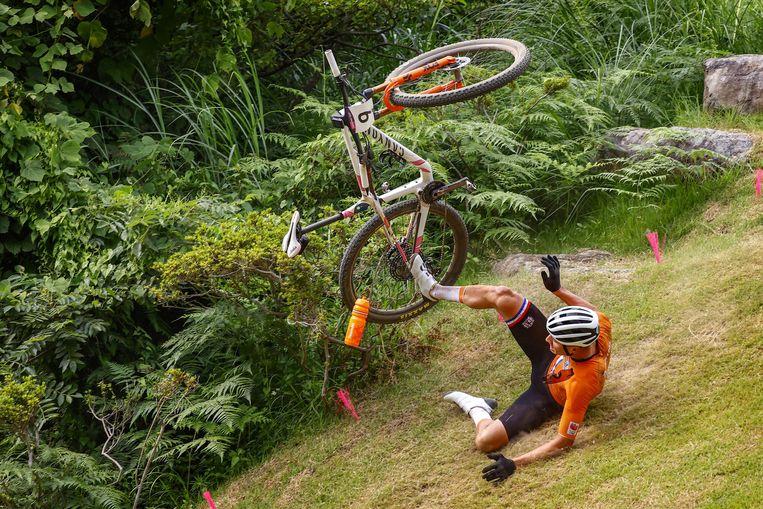 Mathieu van der Poel kwam hard ten val. Beeld Photo News