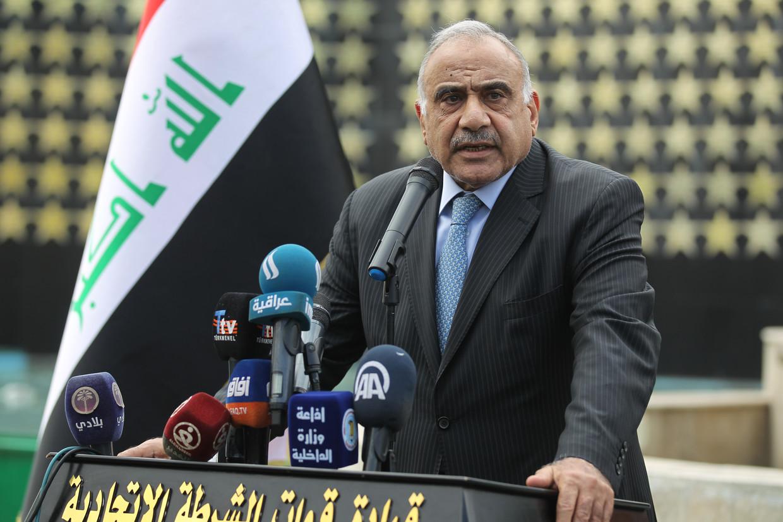 Premier Adel Abdel Mahdi. Beeld AFP