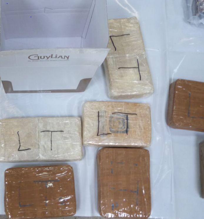 63 kg d'héroïne et 32 kg de cocaïne ont été découverts